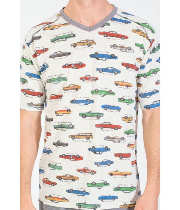 Pijama con estampado de coches Massana P181303