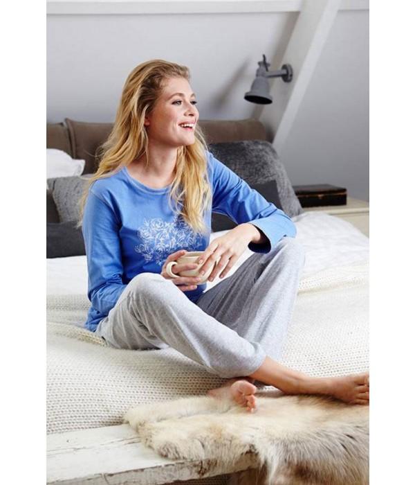 Pijama manga larga corazon de mujer Pastunette