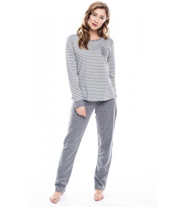 Pijama de algodón gris juvenil de Pastunette