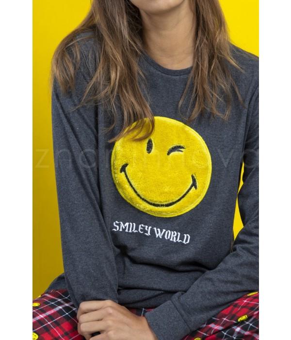 """Pijama mujer invierno """"Punk"""" emoticono de Smiley World"""