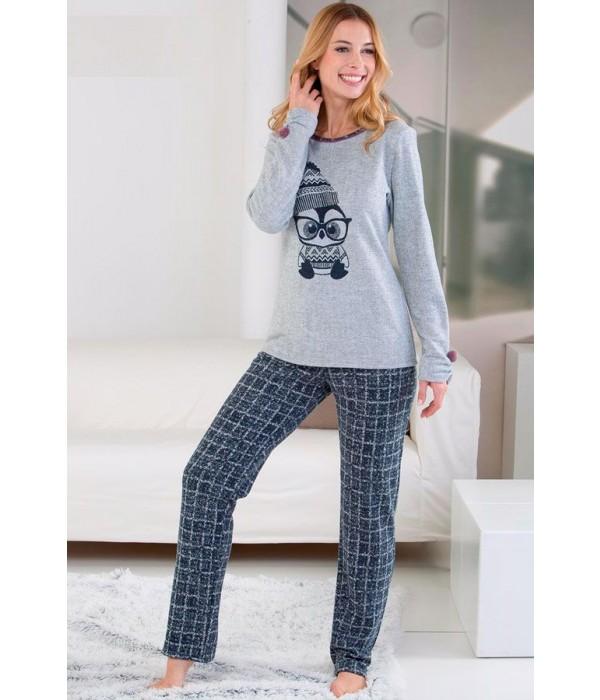 Pijama invierno gris pingüino de Massana