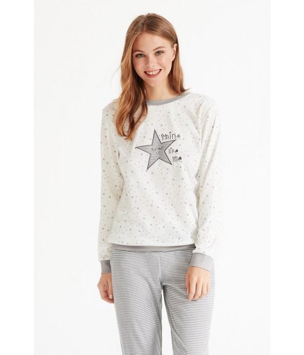 "Set pijama + bata ""estrellas"" invierno de Promise"