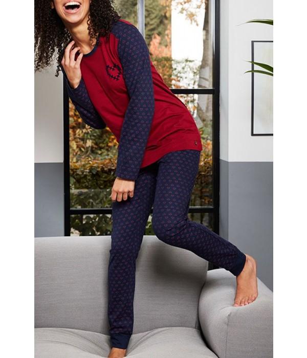Pijama estampado corazones de invierno Rebelle