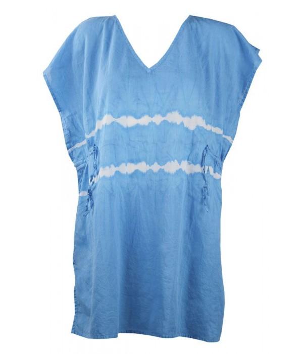 Tunica playera azul estilo boho Duala de Red Point
