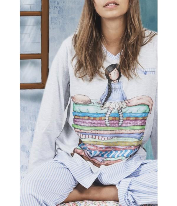 "Pijama mujer Gorjuss ""la princesa y el guisante"" Santoro"